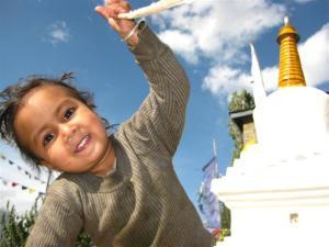 Munchkin at Kalpa village monastry