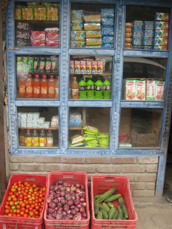 As close as we ever got to a supermarket, yet our super Sundar, was so well organised we never ran out of anything.
