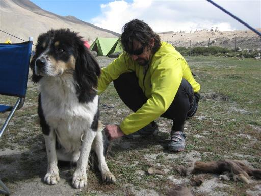 Carlos finds a rasta doggie in the 'campgrounds' with dreadlocks weighing a few kgs,  Its decided that after our adopted dog had devoured our leftovers from lunch that some 'trimming' was in order. See the mighty dreads on the right.