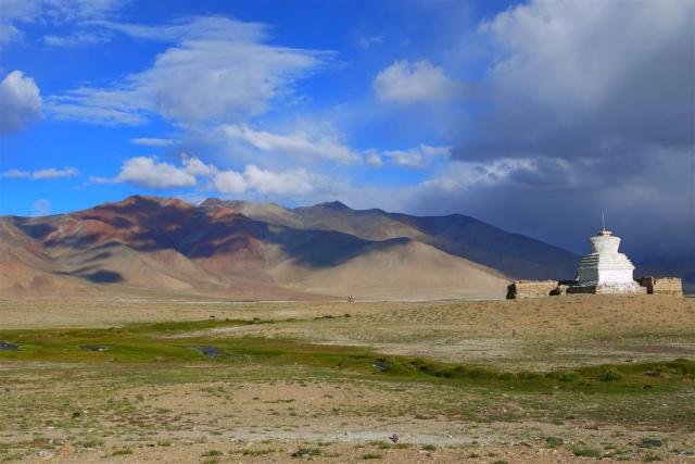 Camping at TsoKar with the marmots, black necked cranes and a kaleidoscope of colours.