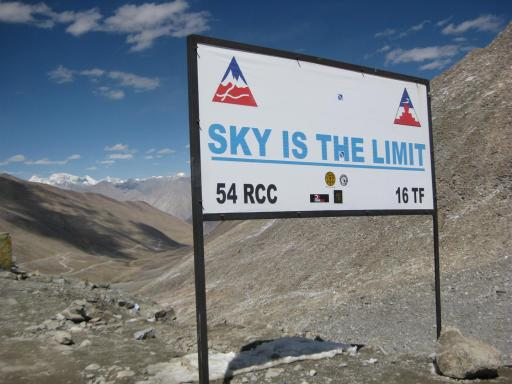 No more need be said - Khardung-la Pass at an arguable 5600m.