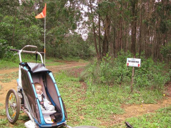 We were tempted to try some of the techincal single-track, but knew that would be a bad move - never wake a sleeping baby!
